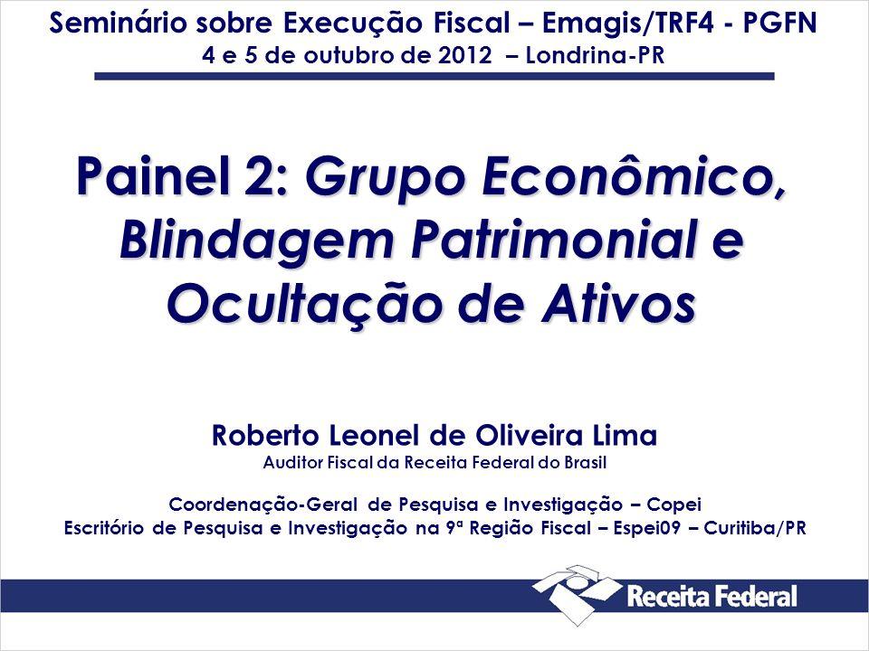 Painel 2: Grupo Econômico, Blindagem Patrimonial e Ocultação de Ativos