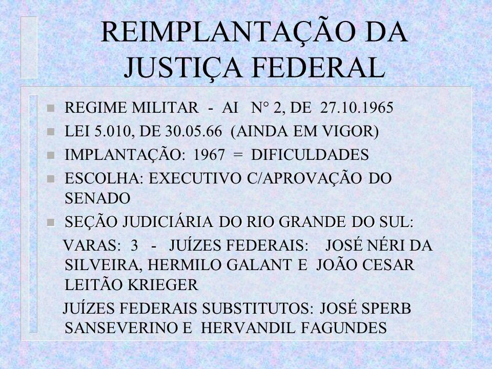 REIMPLANTAÇÃO DA JUSTIÇA FEDERAL
