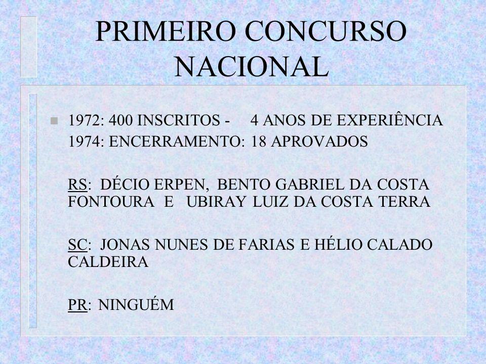 PRIMEIRO CONCURSO NACIONAL