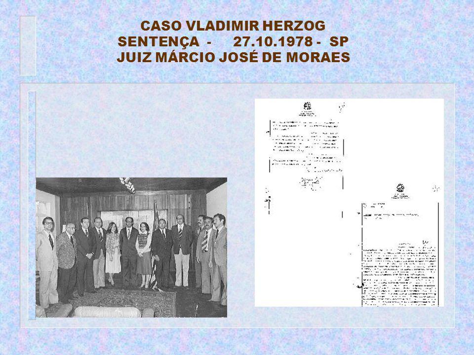 CASO VLADIMIR HERZOG SENTENÇA - 27.10.1978 - SP