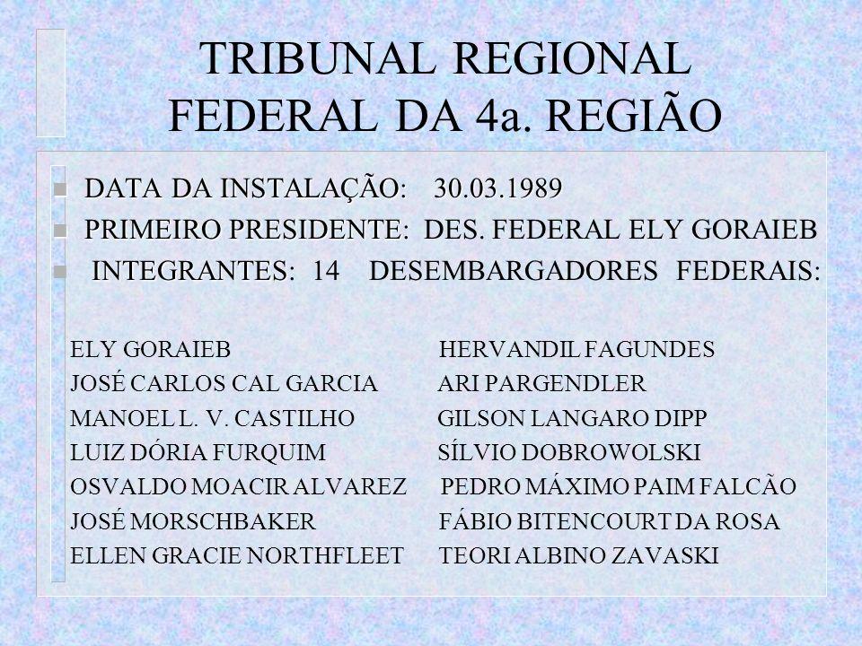 TRIBUNAL REGIONAL FEDERAL DA 4a. REGIÃO