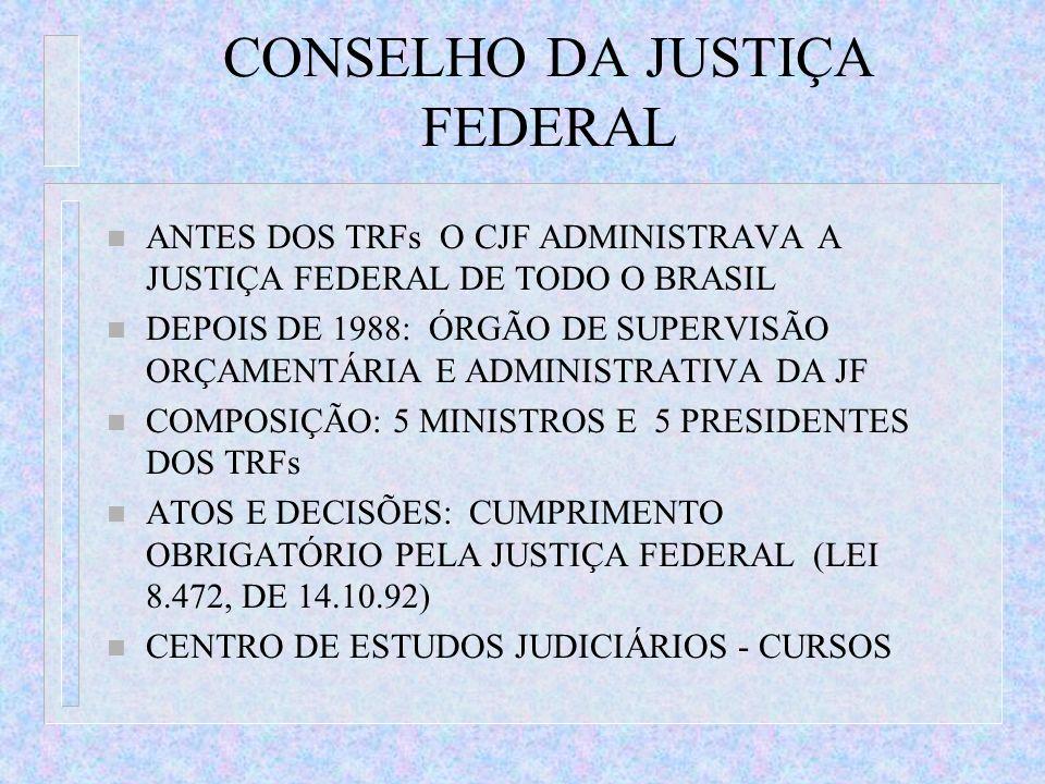 CONSELHO DA JUSTIÇA FEDERAL