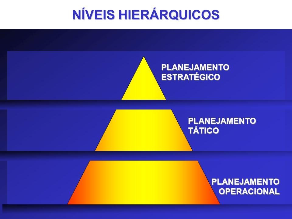 NÍVEIS HIERÁRQUICOS PLANEJAMENTO ESTRATÉGICO PLANEJAMENTO TÁTICO