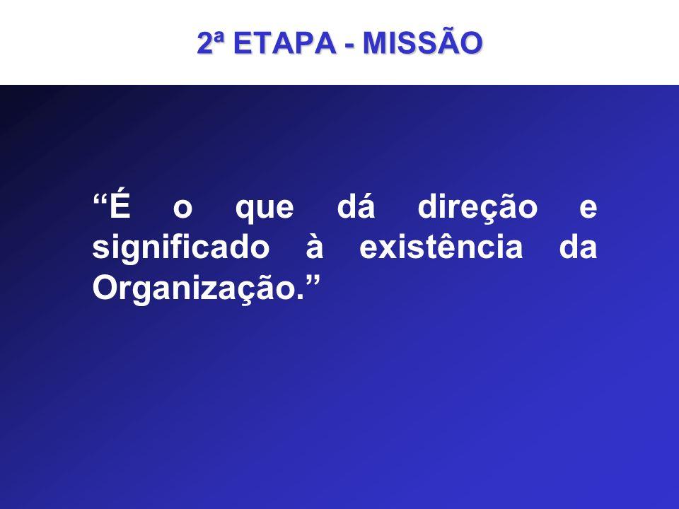 É o que dá direção e significado à existência da Organização.