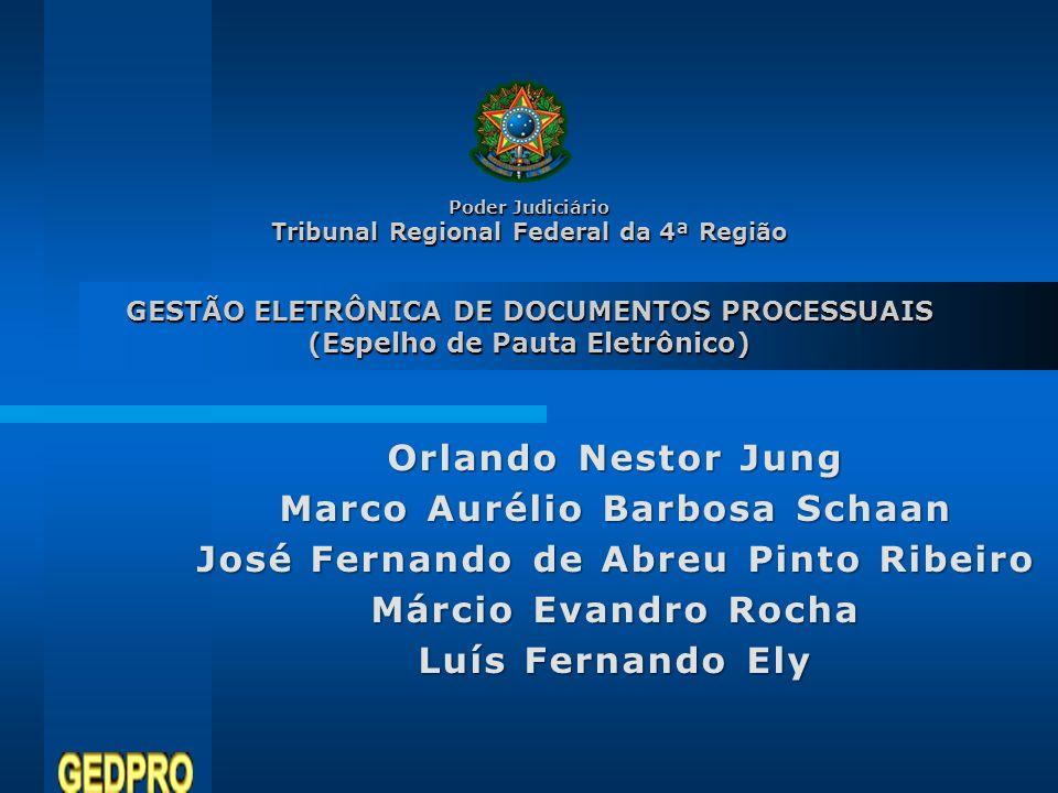 Marco Aurélio Barbosa Schaan José Fernando de Abreu Pinto Ribeiro