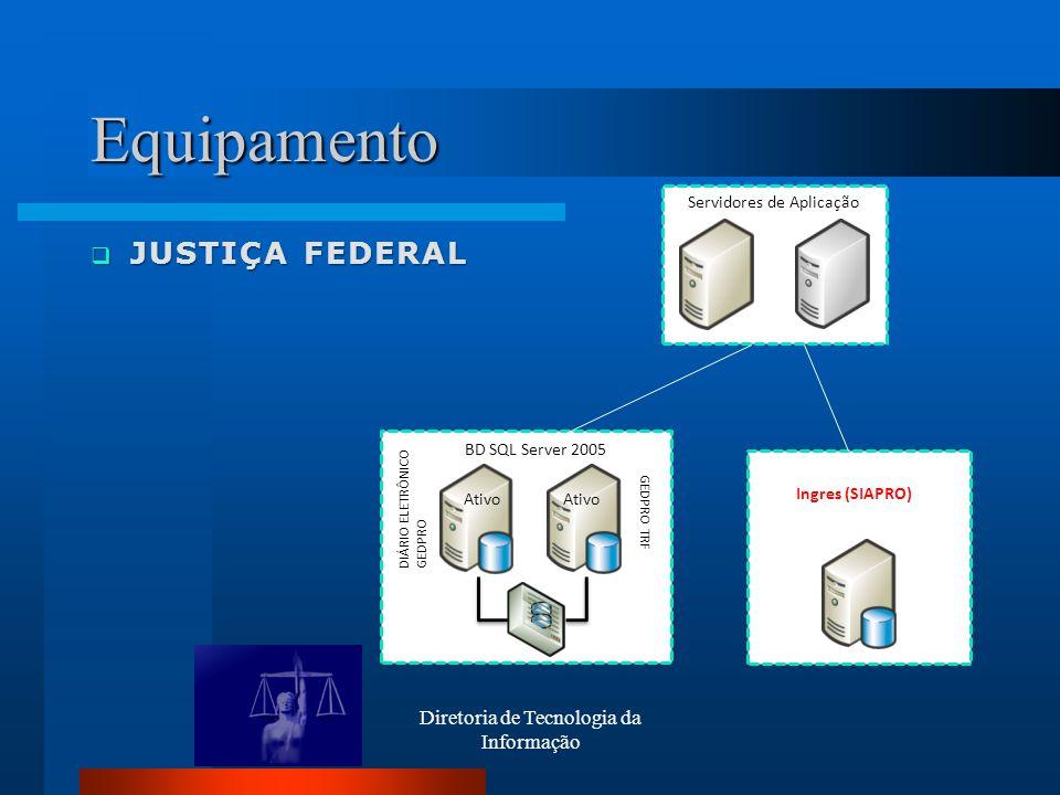 Equipamento JUSTIÇA FEDERAL Diretoria de Tecnologia da Informação