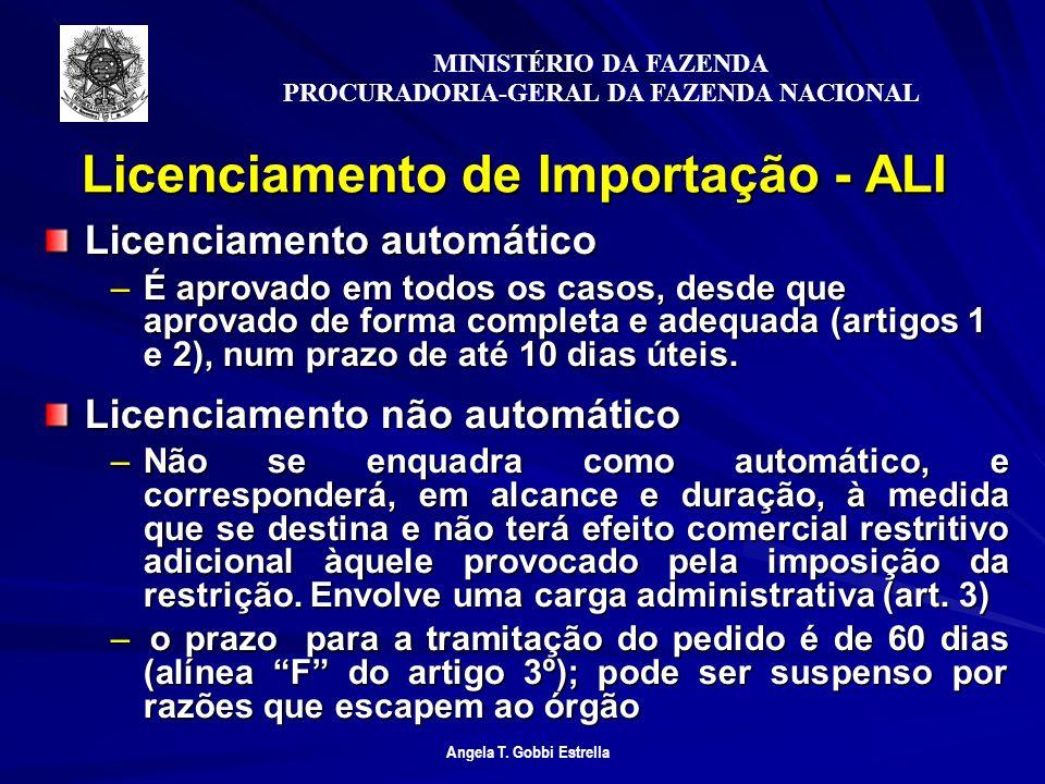 Licenciamento de Importação - ALI