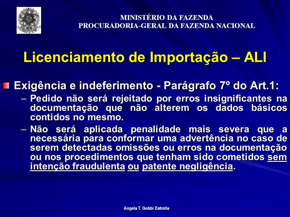 Licenciamento de Importação – ALI