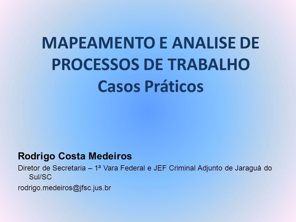 MAPEAMENTO E ANALISE DE PROCESSOS DE TRABALHO Casos Práticos