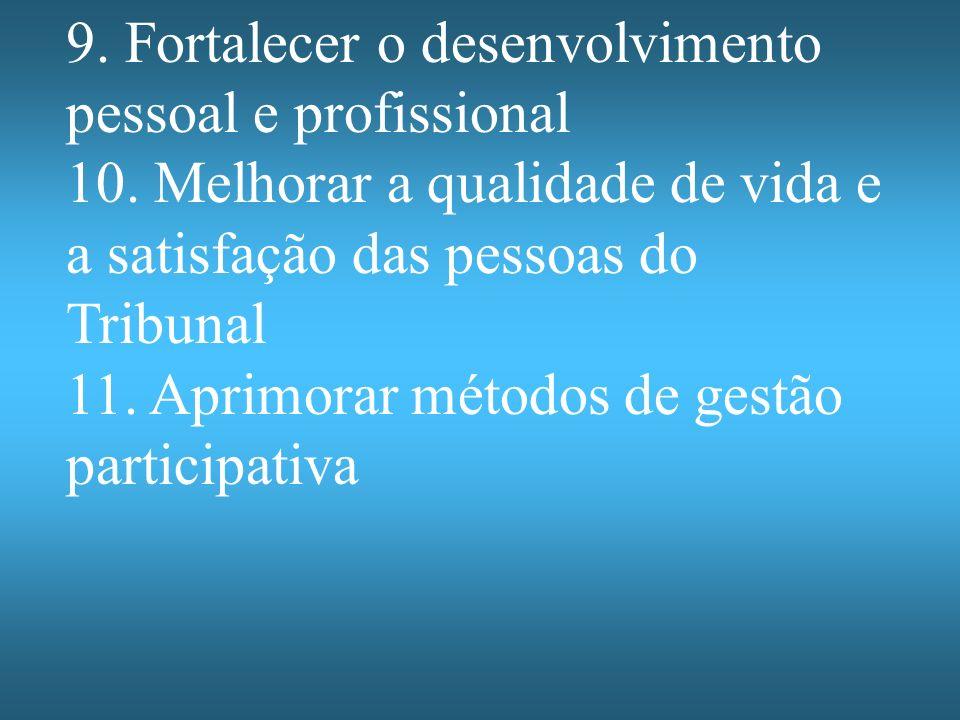 9. Fortalecer o desenvolvimento pessoal e profissional