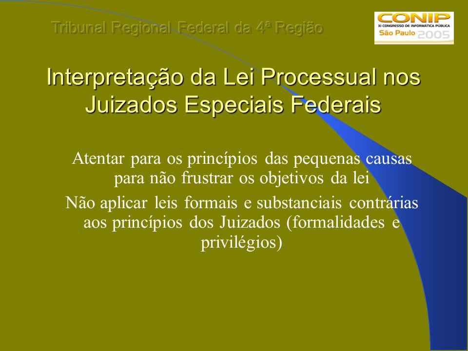 Interpretação da Lei Processual nos Juizados Especiais Federais