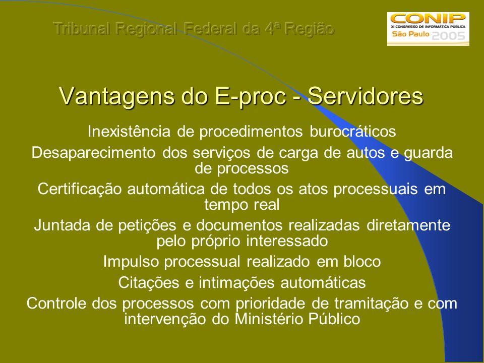 Vantagens do E-proc - Servidores