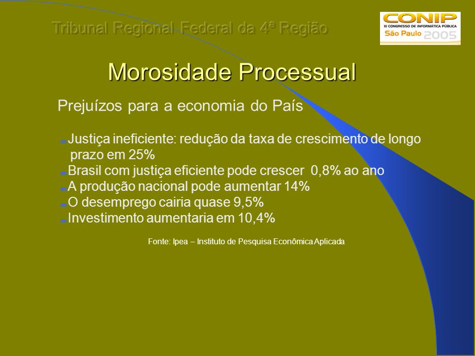 Morosidade Processual
