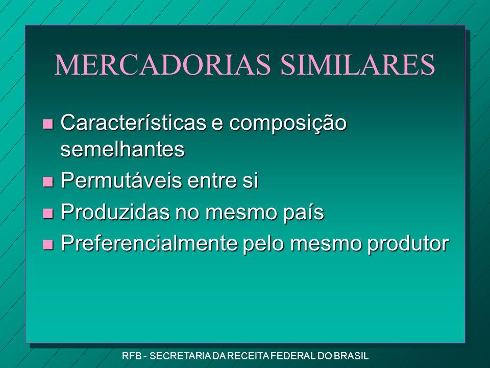 MERCADORIAS SIMILARES