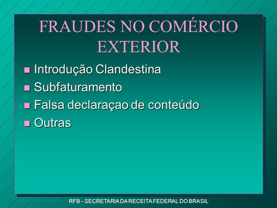 FRAUDES NO COMÉRCIO EXTERIOR