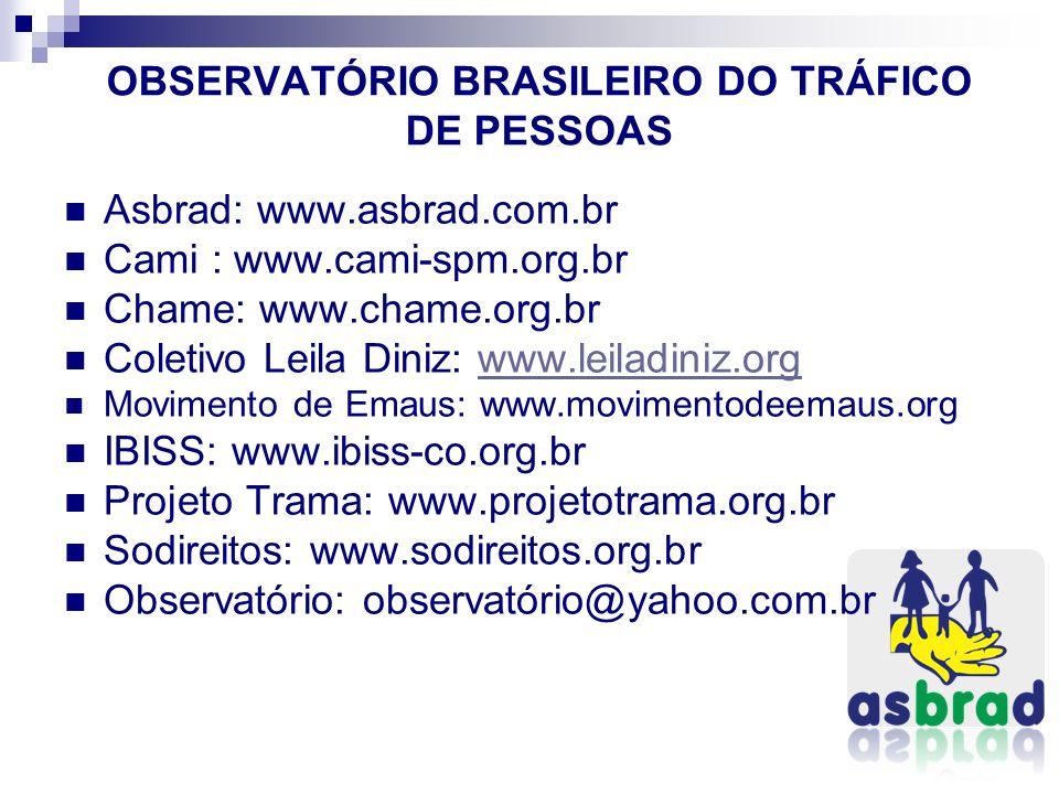 OBSERVATÓRIO BRASILEIRO DO TRÁFICO DE PESSOAS