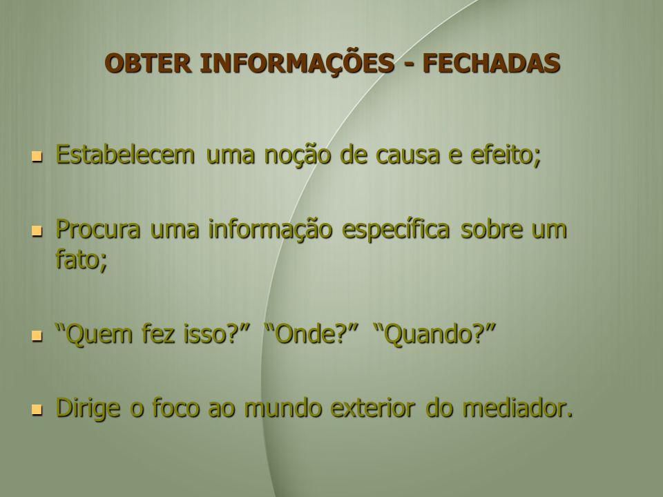 OBTER INFORMAÇÕES - FECHADAS