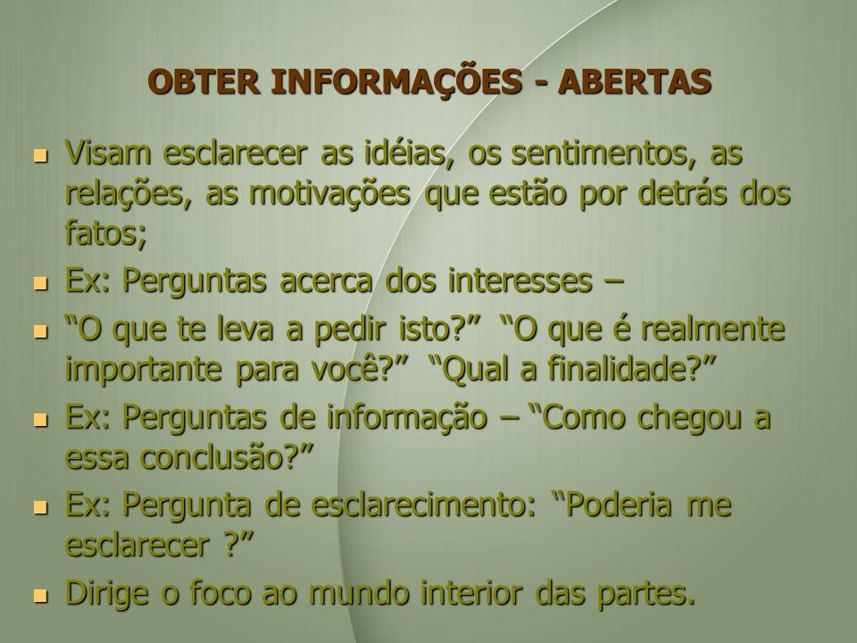 OBTER INFORMAÇÕES - ABERTAS