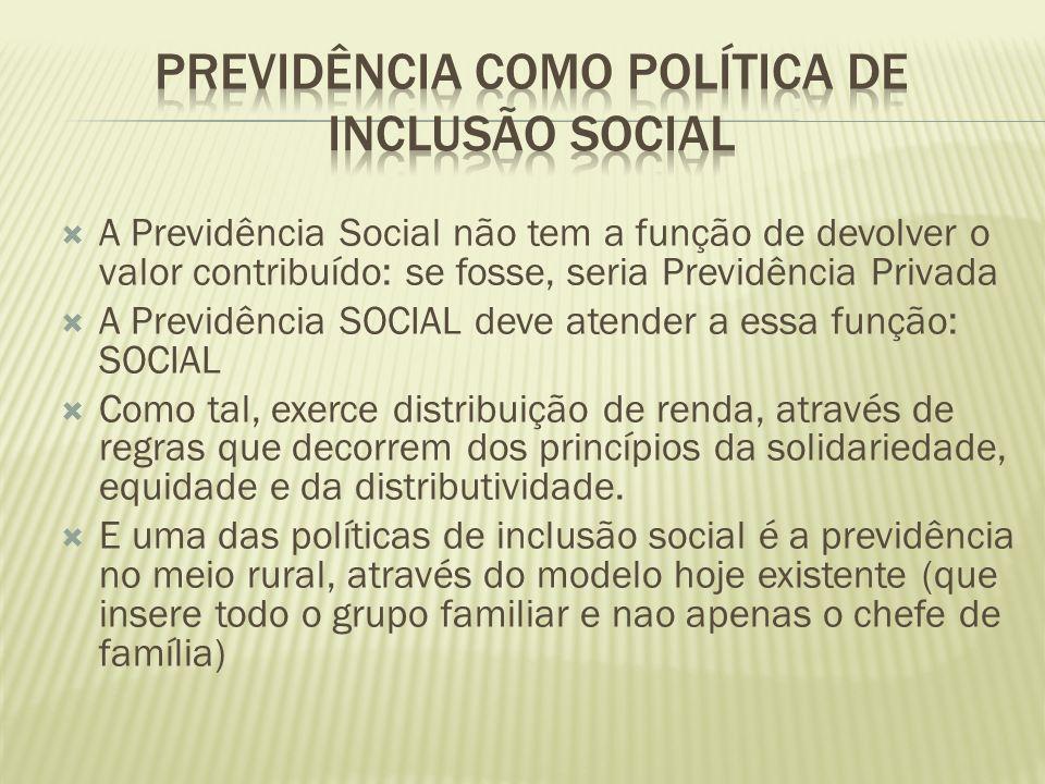 PREVIDÊNCIA COMO POLÍTICA DE INCLUSÃO SOCIAL