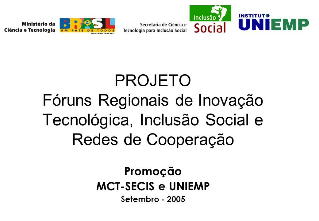 Promoção MCT-SECIS e UNIEMP Setembro - 2005