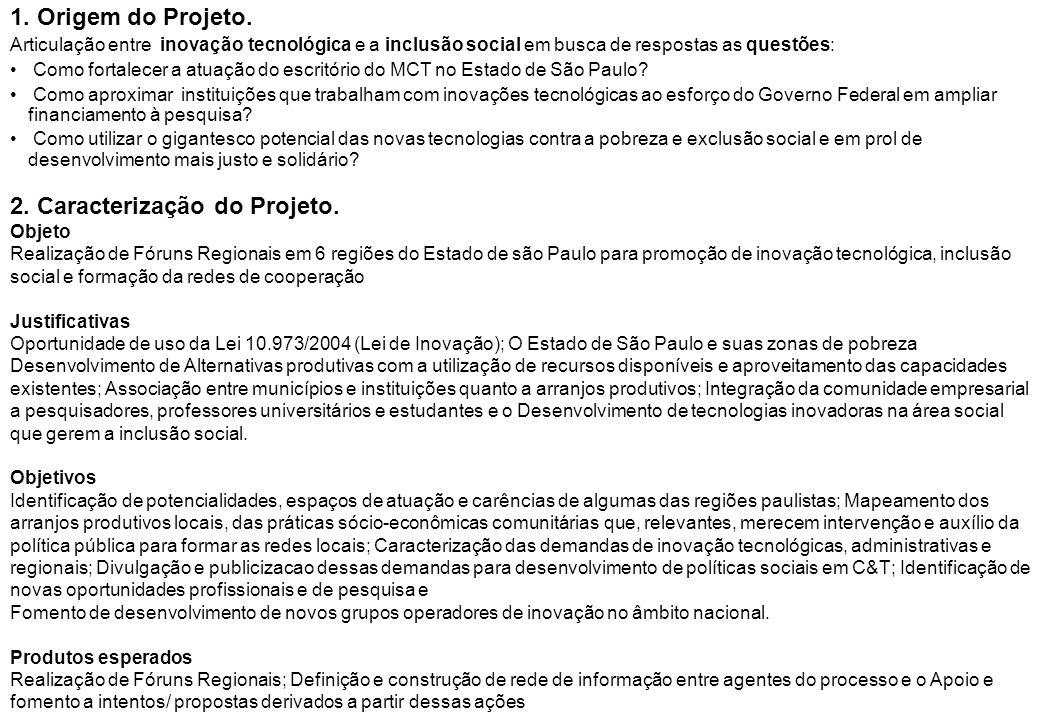 2. Caracterização do Projeto.