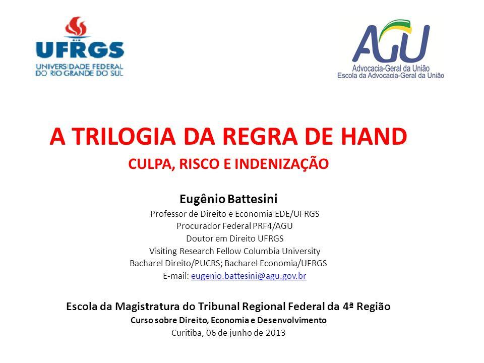 A TRILOGIA DA REGRA DE HAND