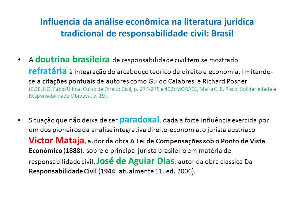 Influencia da análise econômica na literatura jurídica tradicional de responsabilidade civil: Brasil