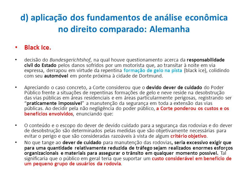 d) aplicação dos fundamentos de análise econômica no direito comparado: Alemanha