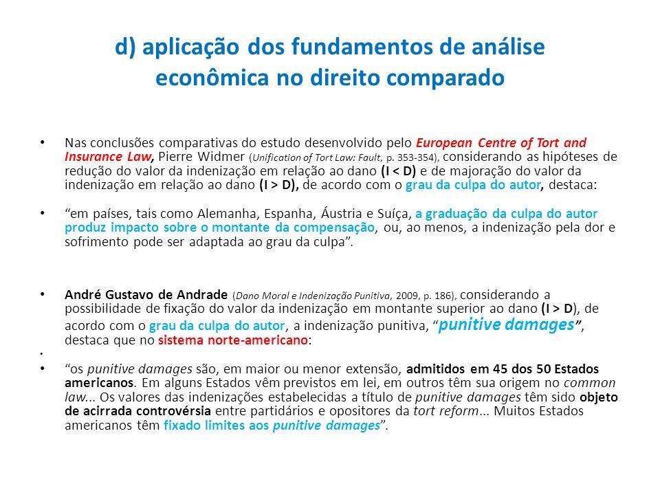 d) aplicação dos fundamentos de análise econômica no direito comparado