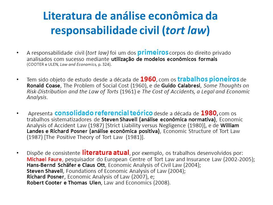 Literatura de análise econômica da responsabilidade civil (tort law)
