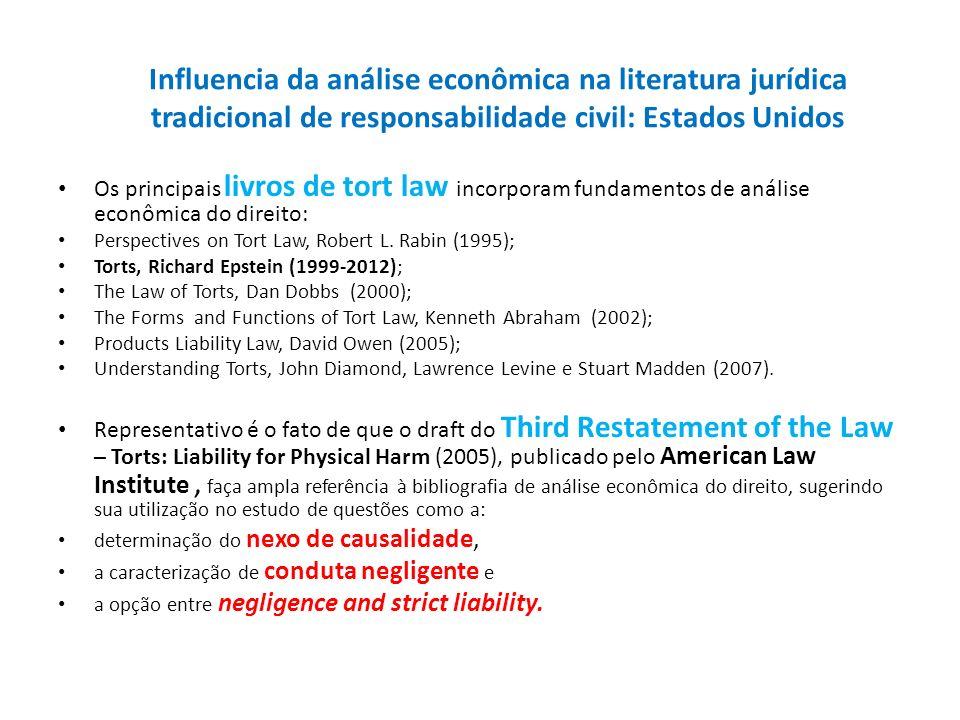 Influencia da análise econômica na literatura jurídica tradicional de responsabilidade civil: Estados Unidos