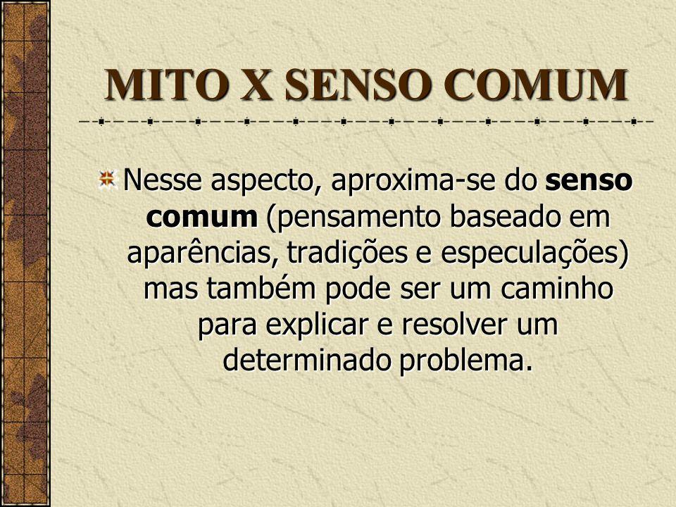 MITO X SENSO COMUM