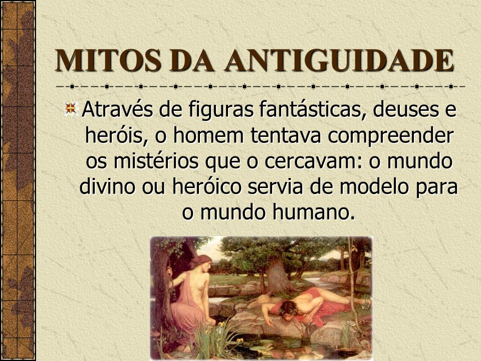 MITOS DA ANTIGUIDADE