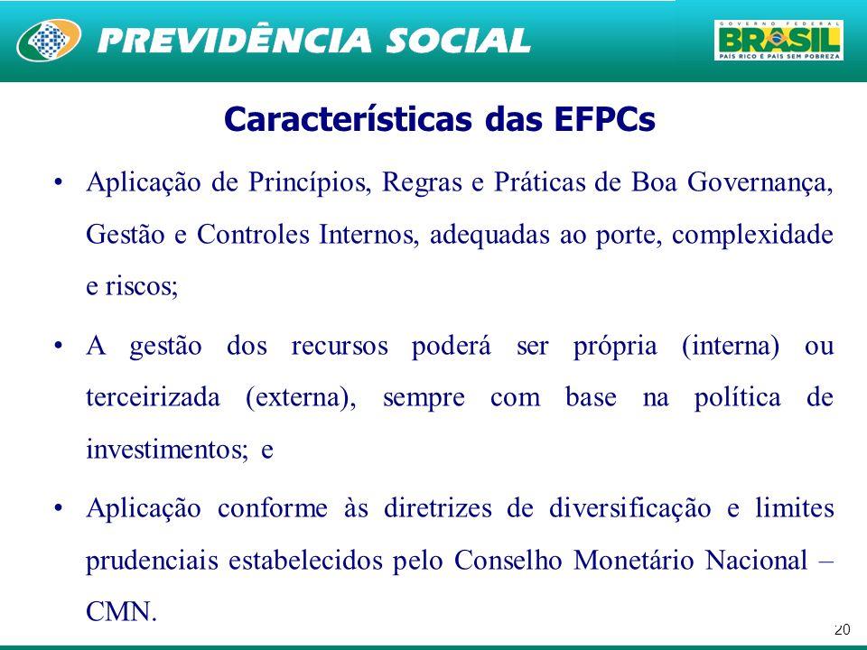 Características das EFPCs