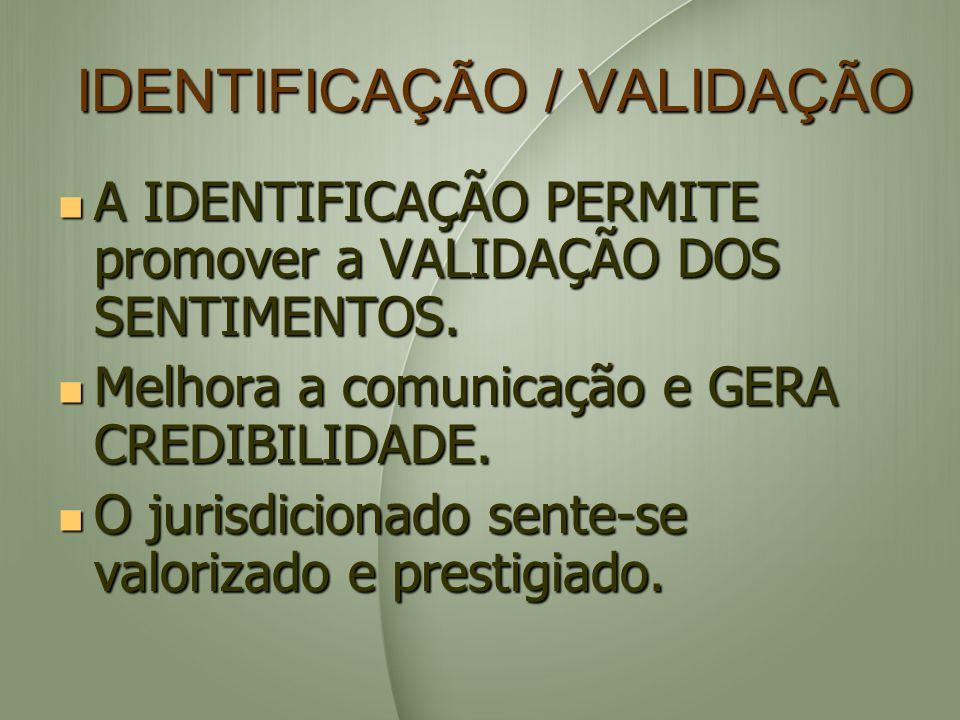 IDENTIFICAÇÃO / VALIDAÇÃO