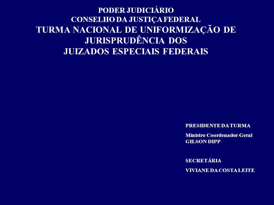 PODER JUDICIÁRIO CONSELHO DA JUSTIÇA FEDERAL TURMA NACIONAL DE UNIFORMIZAÇÃO DE JURISPRUDÊNCIA DOS JUIZADOS ESPECIAIS FEDERAIS