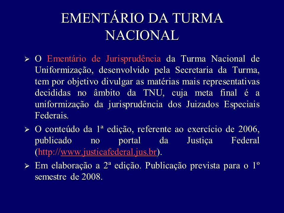 EMENTÁRIO DA TURMA NACIONAL