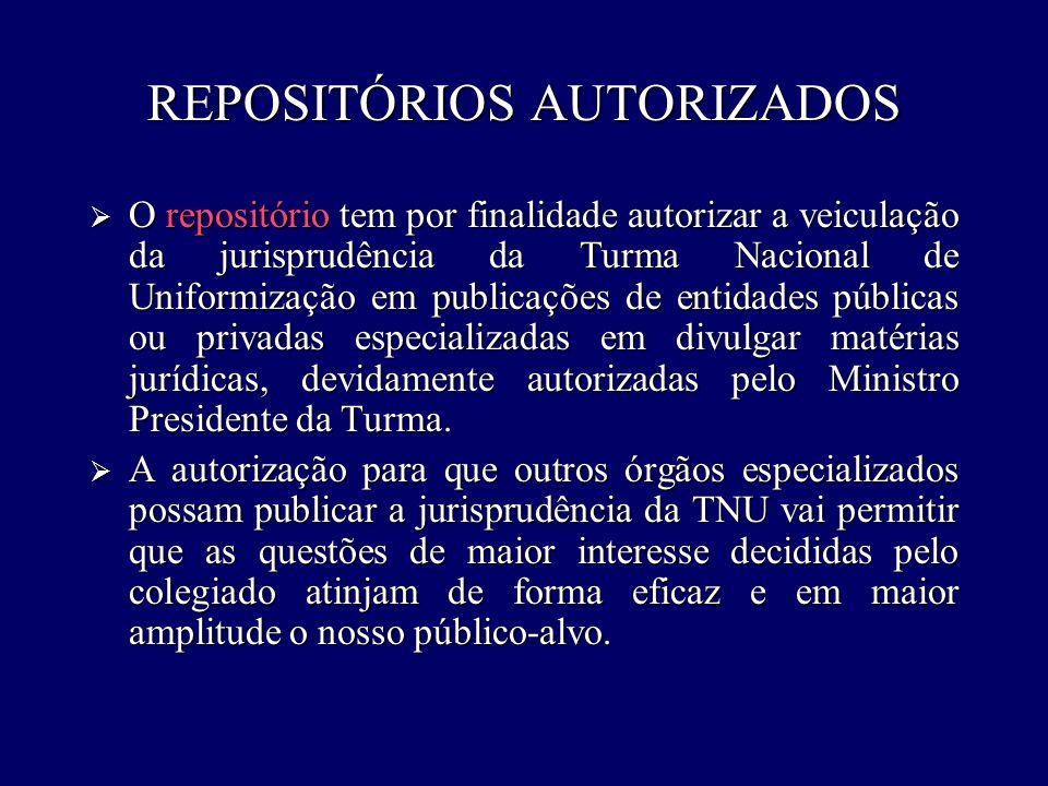 REPOSITÓRIOS AUTORIZADOS