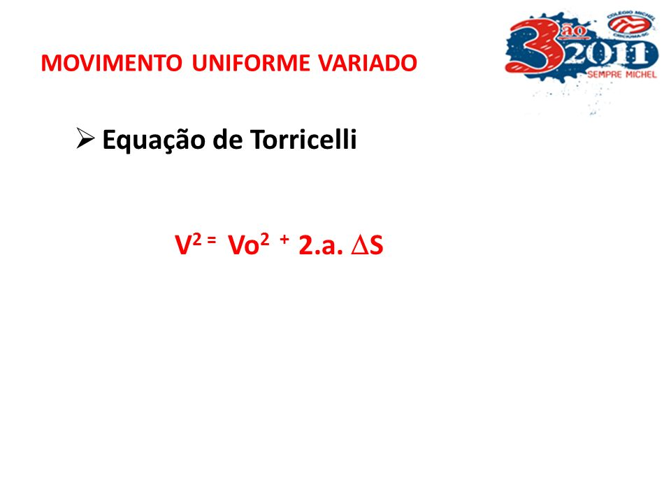 MOVIMENTO UNIFORME VARIADO
