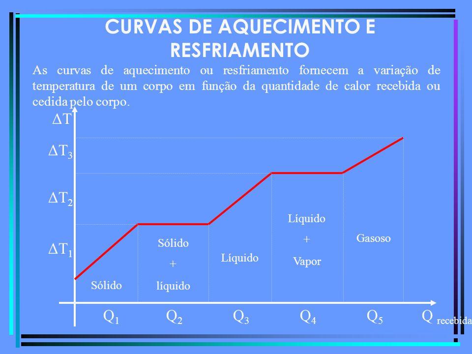 CURVAS DE AQUECIMENTO E RESFRIAMENTO