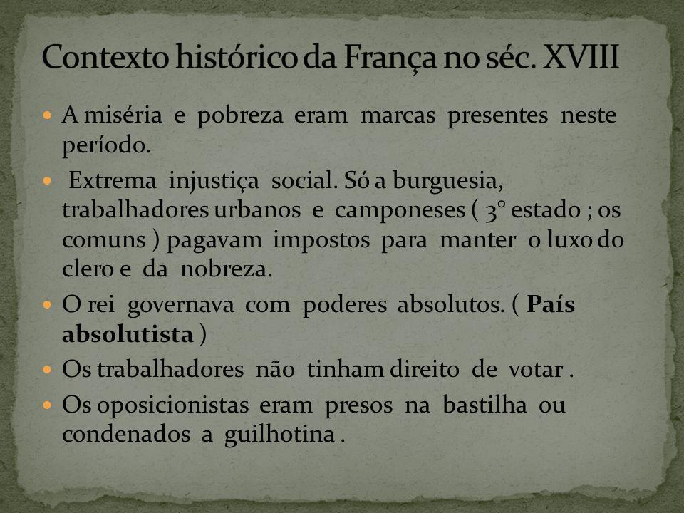 Contexto histórico da França no séc. XVIII