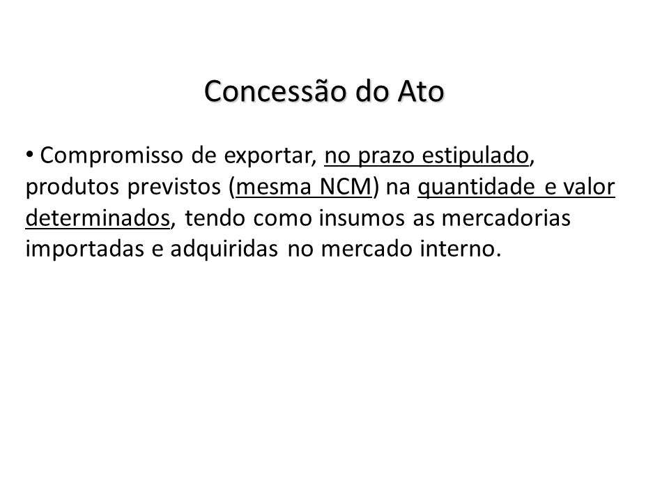 Concessão do Ato