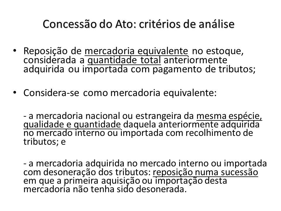 Concessão do Ato: critérios de análise