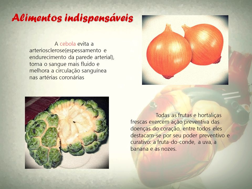 Alimentos indispensáveis