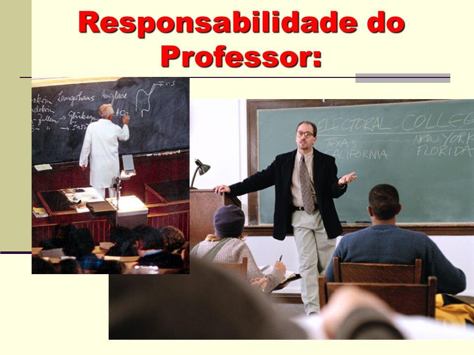Responsabilidade do Professor: