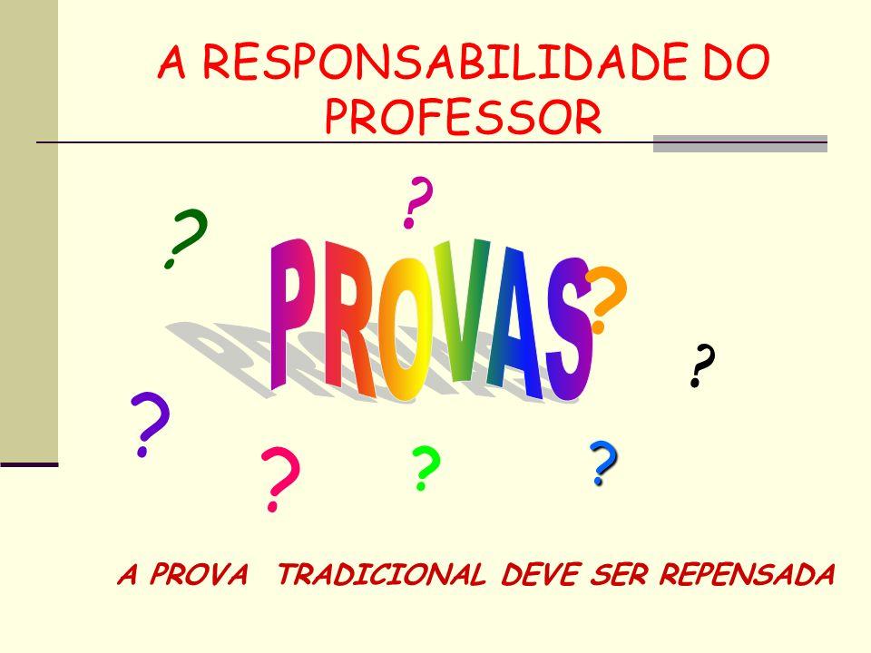 A RESPONSABILIDADE DO PROFESSOR