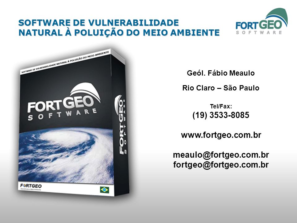 www.fortgeo.com.br meaulo@fortgeo.com.br fortgeo@fortgeo.com.br