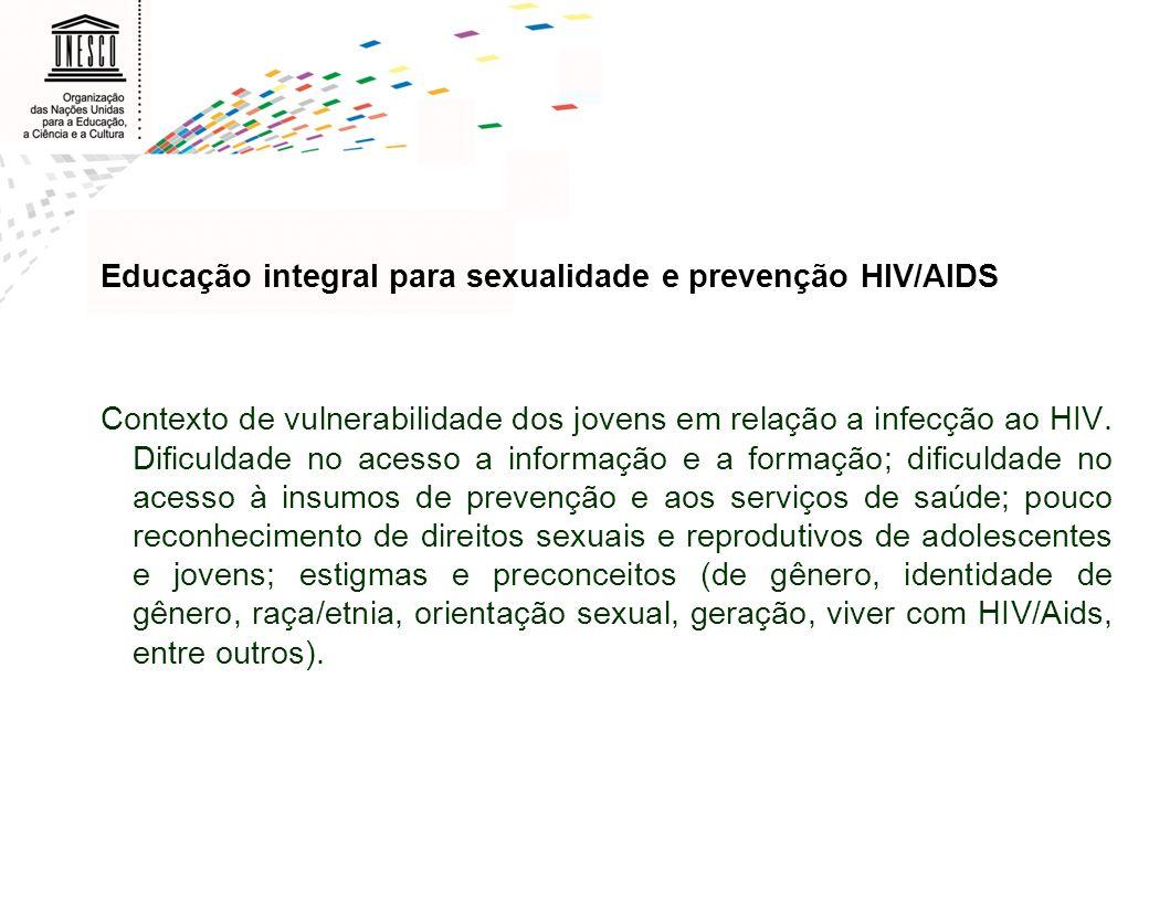 Educação integral para sexualidade e prevenção HIV/AIDS
