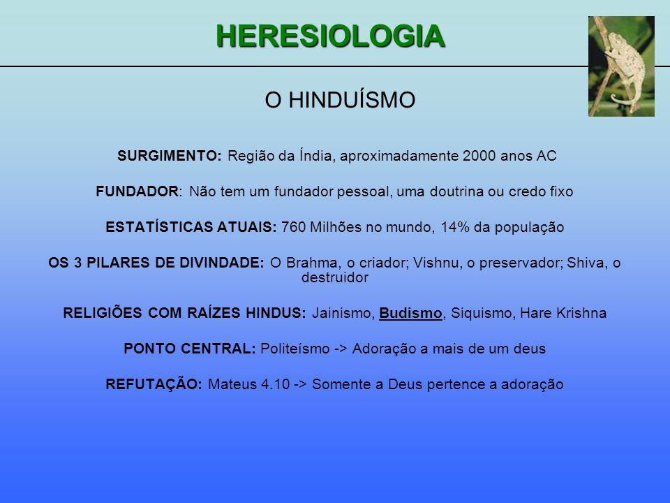 O HINDUÍSMO SURGIMENTO: Região da Índia, aproximadamente 2000 anos AC