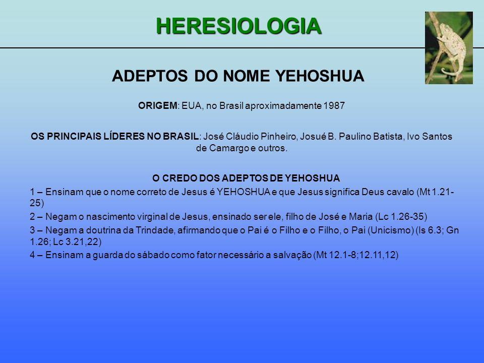 ADEPTOS DO NOME YEHOSHUA